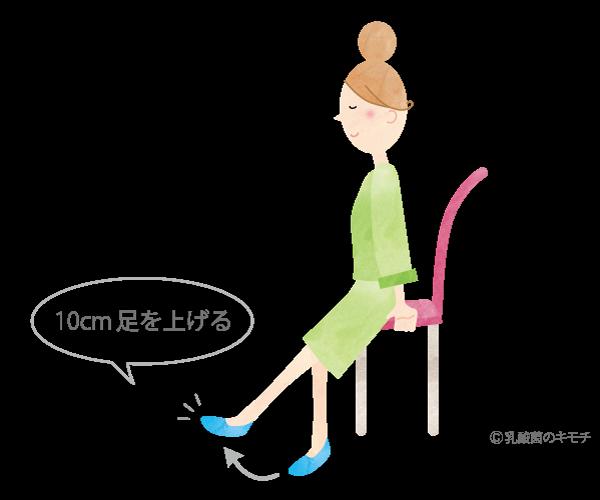 10cm足上げ運動