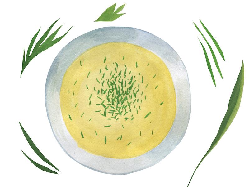 大麦入りスープ